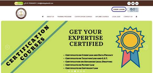 INTO LEGAL WORLD INSTITUTE - Our latest Project - Logic Web Services